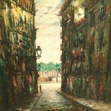 Arte: FERMIN SANTOS ALCALDE 1915-1997. OLEO SOBRE TABLA DEL MAESTRO ALCARREÑO. Lote 151474590