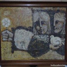 Arte: ÓLEO SOBRE TABLA ANONIMO.CIRCULO JUAN GUTIÉRREZ MONTIEL.. Lote 151500010