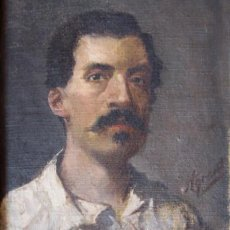 Arte: JOAQUIN AGRASOT - AUTORRETRATO - ORIHUELA 1836- VALENCIA 1919. Lote 151507442