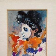Arte: PINTURA ACUARELA - MASCARA - VENECIANA - AÑO 1990 - DE - JOSEP MARFA GUARRO - BARCELONA -. Lote 151507506