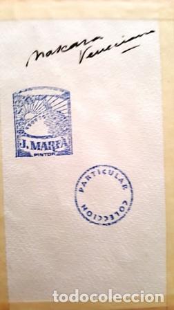 Arte: PINTURA ACUARELA - MASCARA - VENECIANA - AÑO 1990 - DE - JOSEP MARFA GUARRO - BARCELONA - - Foto 3 - 151507802