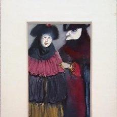 Arte: PINTURA ACUARELA - MASCARA - VENECIANA - AÑO 1990 - DE - JOSEP MARFA GUARRO - BARCELONA -. Lote 151508138