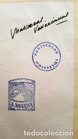 Arte: PINTURA ACUARELA - MASCARA - VENECIANA - AÑO 1990 - DE - JOSEP MARFA GUARRO - BARCELONA - - Foto 3 - 151508138