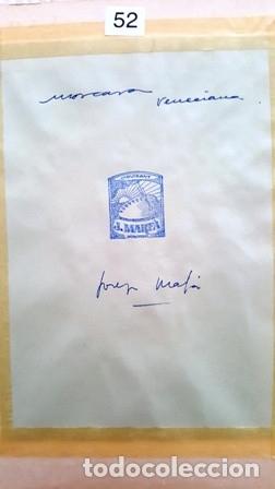 Arte: PINTURA ACUARELA - MASCARA - VENECIANA - AÑO 1990 - DE - JOSEP MARFA GUARRO - BARCELONA - - Foto 3 - 151508482