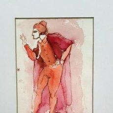 Arte: PINTURA ACUARELA - MASCARA - VENECIANA - AÑO 1990 - DE - JOSEP MARFA GUARRO - BARCELONA -. Lote 151508542