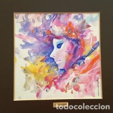 Arte: PINTURA ACUARELA - MASCARA - VENECIANA - AÑO 1990 - DE - JOSEP MARFA GUARRO - BARCELONA -. Lote 151508998