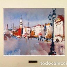 Arte: PINTURA ACUARELA - VENECIA - AÑO 1990 - DE - JOSEP MARFA GUARRO - BARCELONA -. Lote 151509374