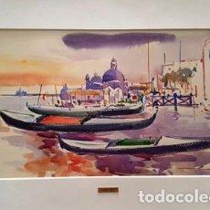 Arte: PINTURA ACUARELA - VENECIA - AÑO 1990 - DE - JOSEP MARFA GUARRO - BARCELONA -. Lote 151562526