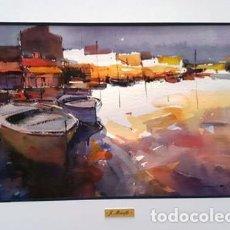Arte: PINTURA ACUARELA - PORT DE - JOSEP MARFA GUARRO - BARCELONA -. Lote 151562702