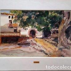 Arte: PINTURA ACUARELA - MASIA GELIDA - ANY 1980 - DE - JOSEP MARFA GUARRO - BARCELONA -. Lote 151563046
