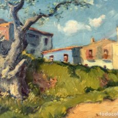 Arte: PAISAJE RURAL TITULADO CASAS DEL MAESTRO DEL PAISAJÍSMO ALFONS GUBERN CAMPRECIÓS (1916-1980). Lote 151599822