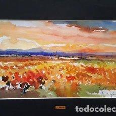 Arte: PINTURA ACUARELA - PAISATGE - ANY 1977 - DE - JOSEP MARFA GUARRO - BARCELONA -. Lote 151605050