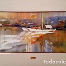 Arte: PINTURA ACUARELA - PORT - DE - JOSEP MARFA GUARRO - BARCELONA -. Lote 151606086