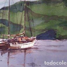 Arte: PINTURA ACUARELA - CABO DE CREUS - ANY 1976 - DE - JOSEP MARFA GUARRO - BARCELONA -. Lote 151607218