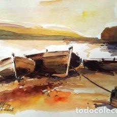 Arte: PINTURA ACUARELA - LLANÇA - DE - JOSEP MARFA GUARRO - BARCELONA -. Lote 151608366