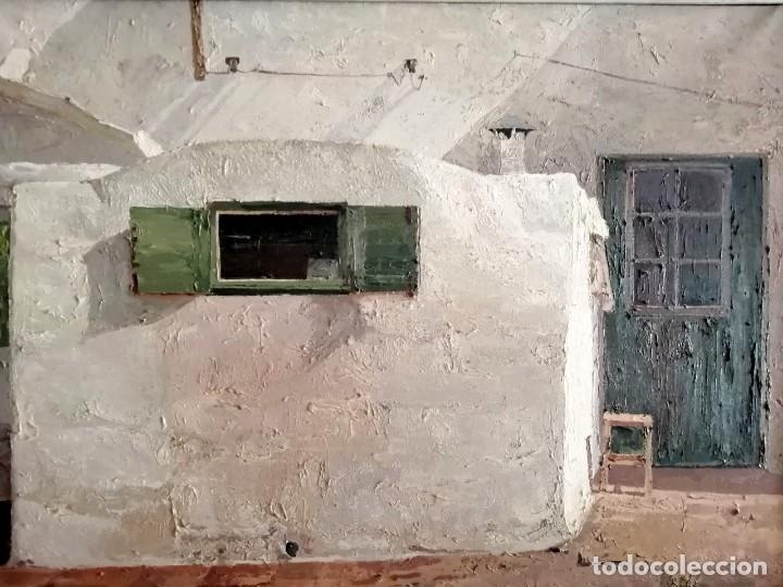 FRANCESC POCH ROMEU. (1935 - 2008) SANT LLUIS - MENORCA 1977 FORN DE PÀ (Arte - Pintura - Pintura al Óleo Contemporánea )