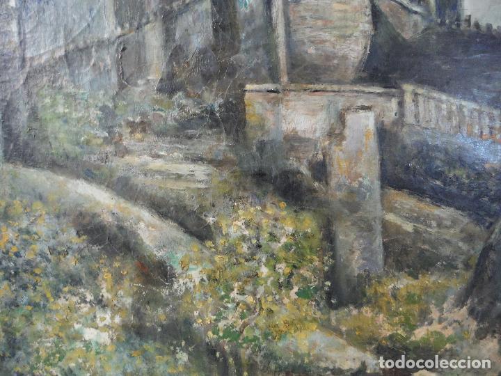 Arte: CUADRO OLEO ANTIGUO ALCAZAR DE SEGOVIA - Foto 3 - 174952804