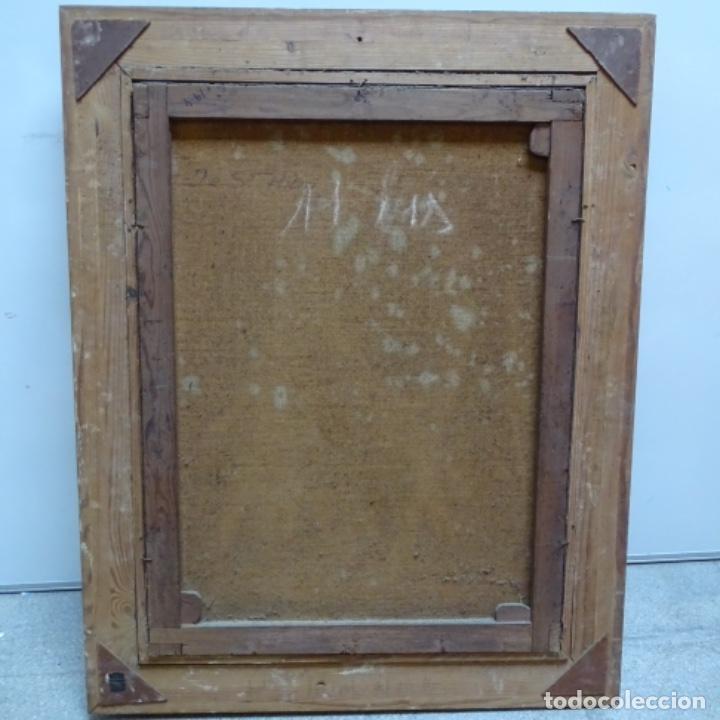 """Arte: Gran óleo sobre tela con firma ilegible.escrito en la trasera""""de Sant Hilari"""" de sacalm? - Foto 10 - 151656746"""