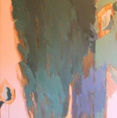Arte: PINTURA ORIGINAL HELENA JUNYENT-BARCELONA 2015-120X110 CM- TITULO: FLORA. Lote 151668270
