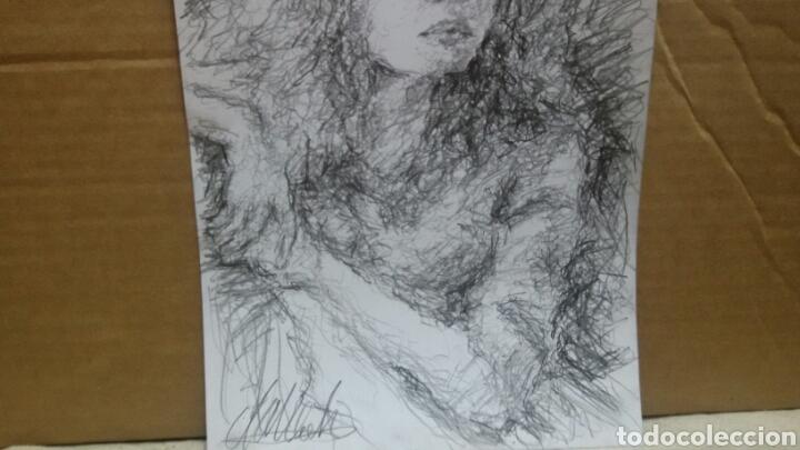 Arte: Dibujo chica esperando original - Foto 2 - 151788110