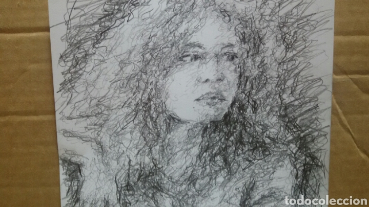 Arte: Dibujo chica esperando original - Foto 3 - 151788110