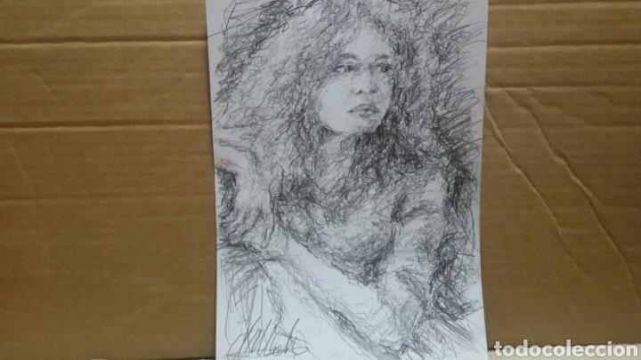 Arte: Dibujo chica esperando original - Foto 4 - 151788110