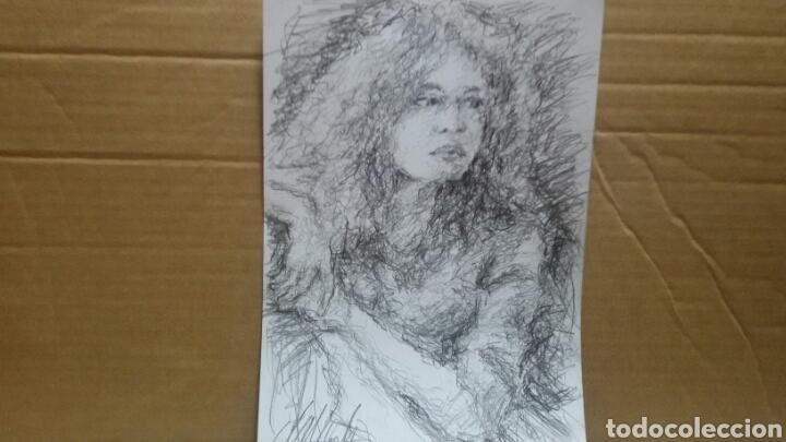 Arte: Dibujo chica esperando original - Foto 5 - 151788110