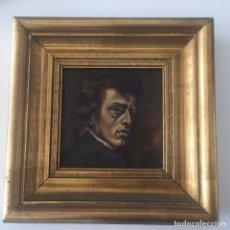 Arte - Antiguo retrato,óleo sobre tabla firmado Tonia.marco 22x22cm sin marco 12x12cm - 151819729