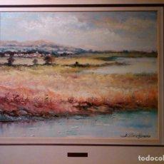 Arte: EMILI ALBERCH BASSÓ - PAISATGE - 42 X 35 CM. Lote 151889426