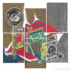 Arte: FIGURATIVE-CAM-ACRYLIC AND OIL ART 23X30 CM. Lote 151910002