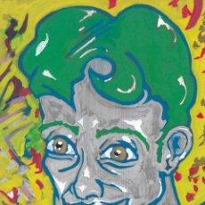 Arte: PORTRAITS-ACRYLIC AND OIL ART ON MDF 40X25 CM. Lote 151910302