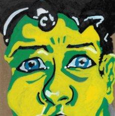 Arte: PORTRAITS-ACRYLIC AND OIL ART ON MDF 40X25 CM. Lote 151911006