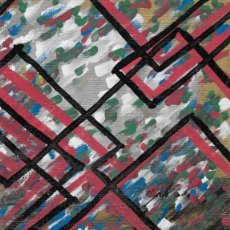Arte: GLASS MATTER-ACRYLIC AND OIL ART 11.5X15 CM. Lote 151911098