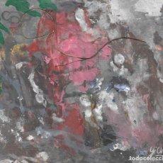 Arte: DELIRIUM-ABSTRACT ACRYLIC AND OIL ART 23X30 CM . Lote 151911290