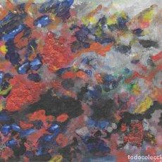Arte: DELIRIUM- ABSTRACT ACRYLIC AND OIL ART 23X30 CM. Lote 151911342
