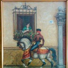 Arte: OLI SOBRE FUSTA - SIGNAT TOBARUELA - 34 X 25 CM. Lote 151913822