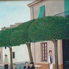 Arte: CAFÈ DE LA RIERA - MATEU PUJADAS - 55 X 46 CM. Lote 151913862