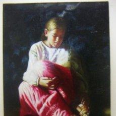 Arte: OLEO SOBRE TABLA FIRMADO SANTOS. Lote 151950058