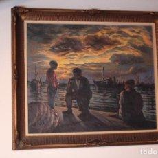 Arte: ÓLEO SOBRE TABLA DEL PINTOR CHILENO ROBLES ACUÑA, HÉCTOR (1919-2007). FIRMADO. MEDIDAS: 66.5 X 56. . Lote 151975082