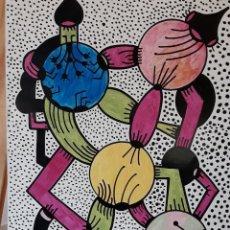 Arte - ABSTRACTO sobre Cartulina ( SIN MARCO ) (SANTA)n0019 CON LA COMPRA DE 5 CARTULINAS ABSTRACTA 1 DE R - 151998250