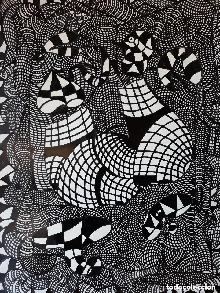 Arte: ABSTRACTO sobre Cartulina ( SIN MARCO )SANTA(0023 CON LA COMPRA DE 5 CARTULINAS ABSTRACTA 1 DE REGAL - Foto 4 - 152001894