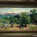 Arte: HORIZONTE DE MADRID DESDE LA CASA DE CAMPO, E. ROSAS. Lote 152015538