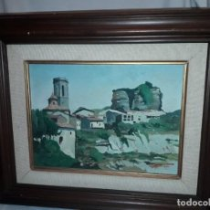 Arte: HERMOSA PINTURA AL OLEO ENMARCADA FIRMADA JAMBERT ARES DEL MAESTRAT. Lote 152022914