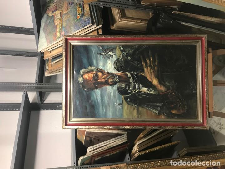 Arte: magistral retrato de don quijote - Foto 2 - 152032282