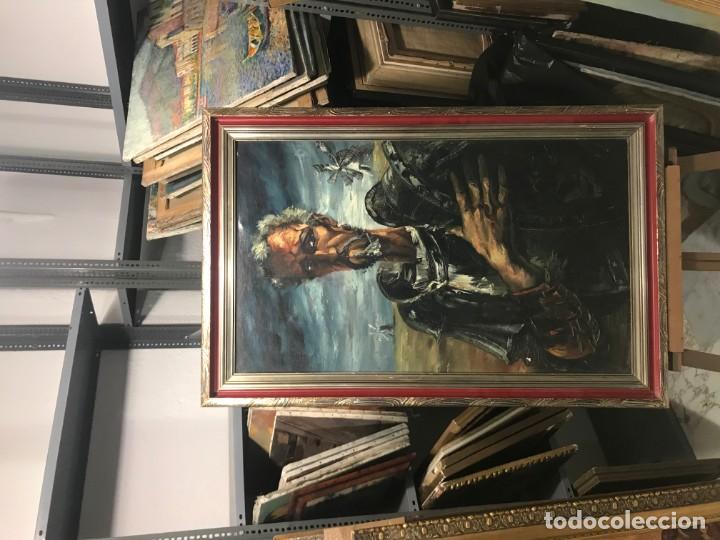 Arte: magistral retrato de don quijote - Foto 3 - 152032282