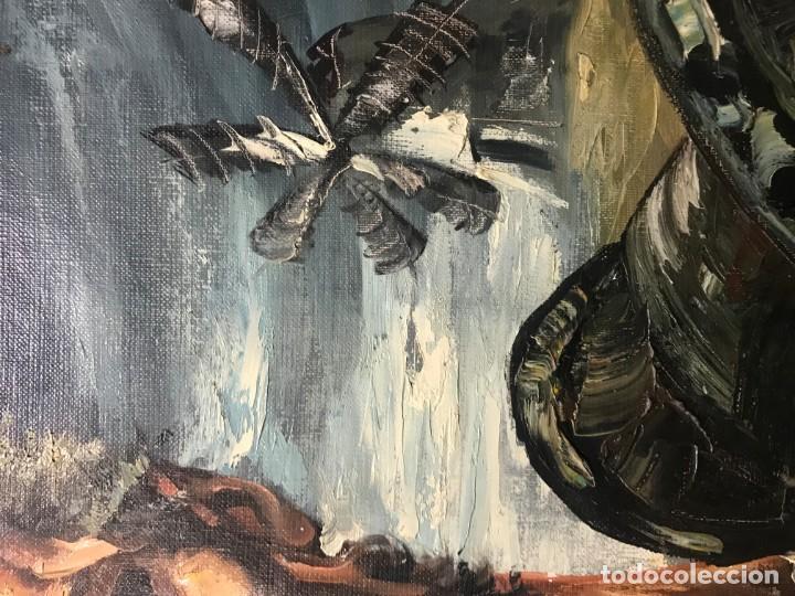 Arte: magistral retrato de don quijote - Foto 11 - 152032282