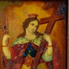 Arte: ÓLEO S/COBRE -SANTA ELENA-. ESCUELA FLAMENCA FINALES S. XVII. DIM.- 23.5X20.5 CMS CON MARCO.. Lote 152052042