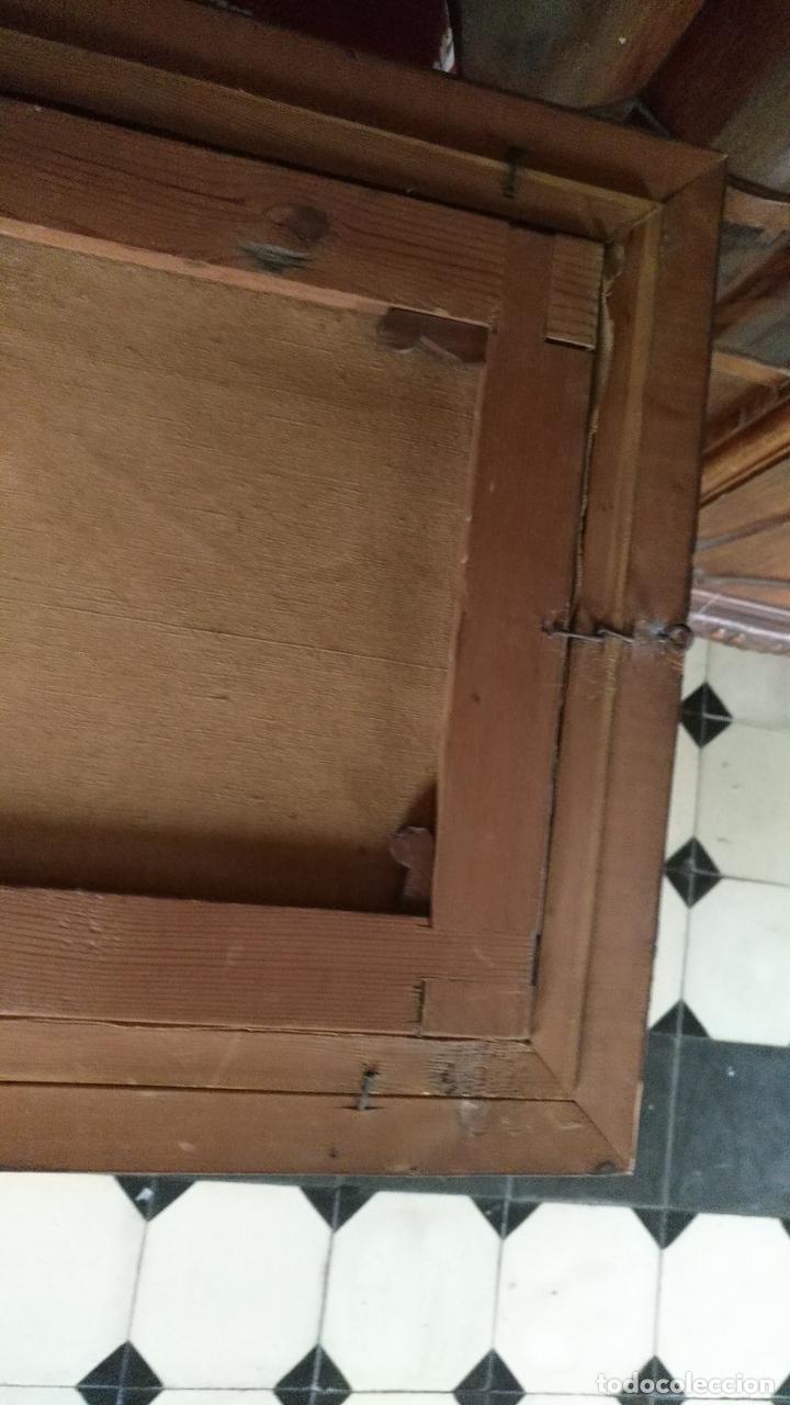 Arte: gran lienzo oleo CISNE enmarcado marco madera y contramarco pan de oro fino firmado 1909 sofia ruiz - Foto 18 - 152136418