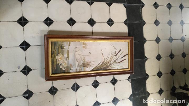 Arte: gran lienzo oleo CISNE enmarcado marco madera y contramarco pan de oro fino firmado 1909 sofia ruiz - Foto 19 - 152136418