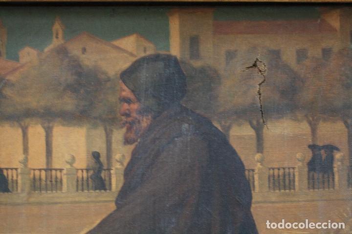 Arte: Mendigo, pintura al óleo sobre tela, siglo XIX, sin firmar. 64,5x49,5cm - Foto 3 - 152146718